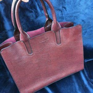 Handbags - Brand New Burgundy Faux Leather Purse